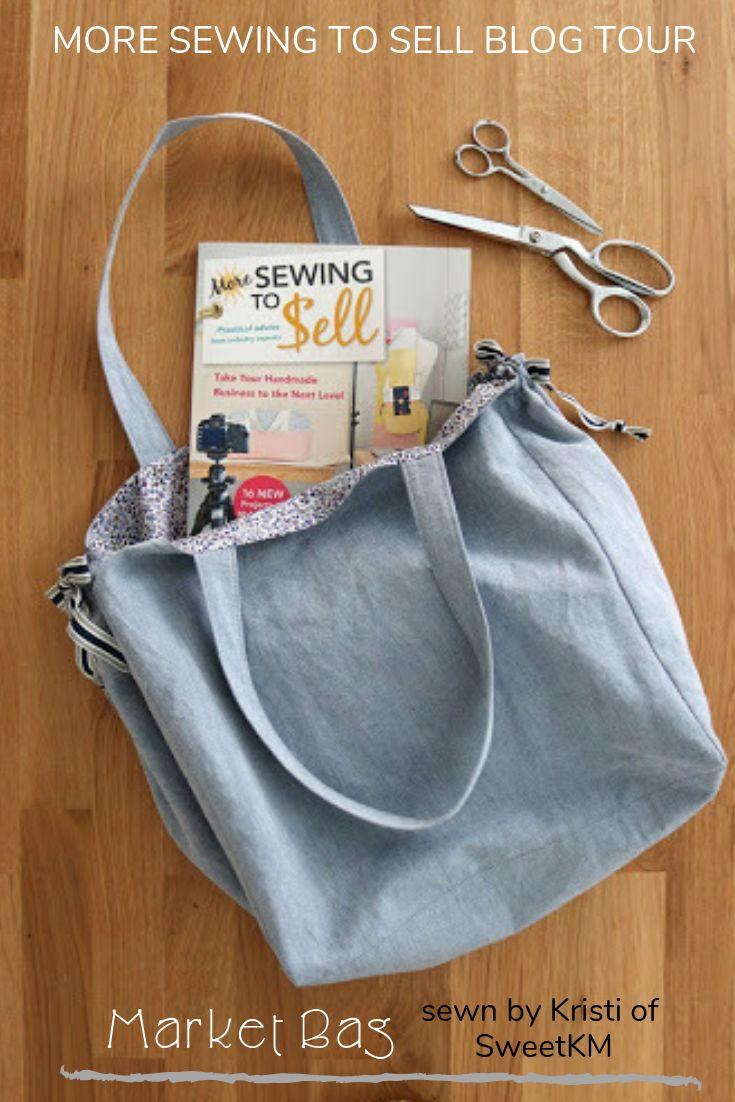 Lieben Sie diese einfache Markttasche, die von Kristi von SweetKM elegant gemacht wird. Aus dem Buch, M …   – Projects from my book Sewing to Sell