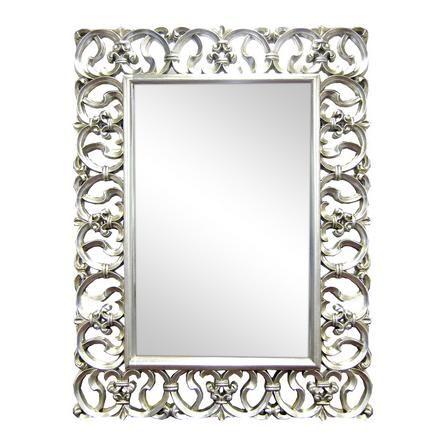 Dunelm Ornate Highlife Framed Mirror Silver