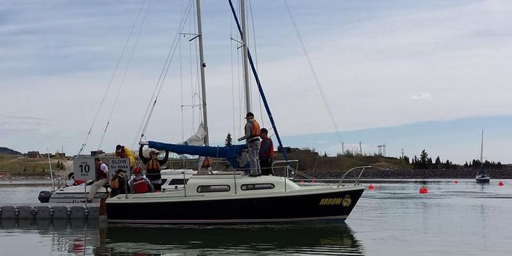 Cadets aged 12-18 learn to sail on the corps' yacht. To find out how to join us, visit www.rcscccalgary.ca.