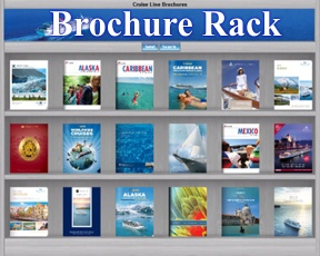 Brochure Rack Cruise and Land resorts  Wordwide Brochures