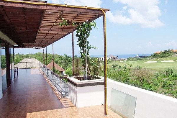 Balcony of Exclusive Luxury Villa Located in a golf course environment in Dreamland, Jimbaran, Bali