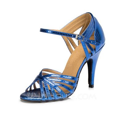 Women's Leatherette Heels Sandals Latin With Buckle Dance Shoes (053072403)
