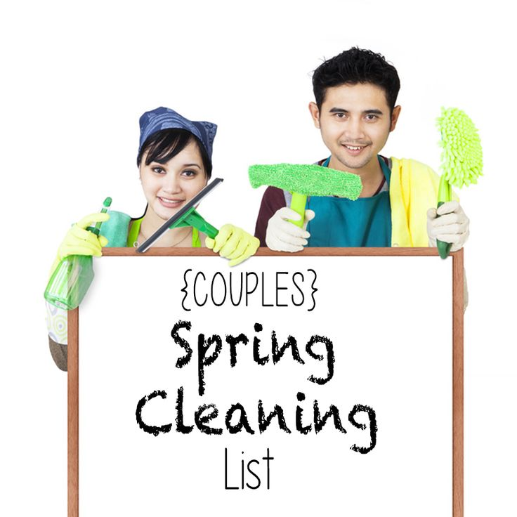 The ultimate spring cleaning list! Hubby helps with this one!!!