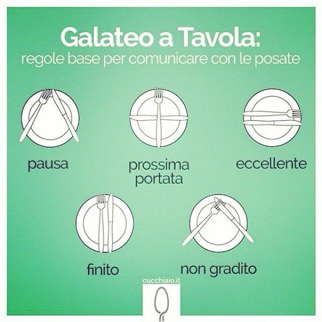Dining etiquette - Galateo a tavola.
