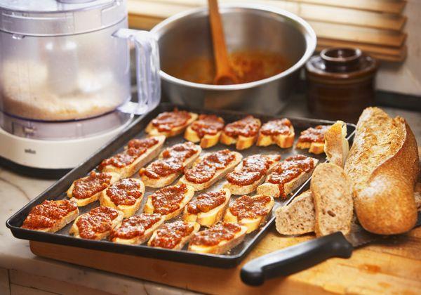 Creole Crostinis Recipe  spicetrekkers.com