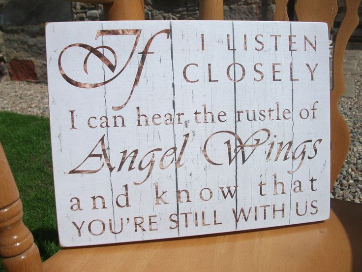 Angel Wings, memorial, remembrance, home decor, gift idea, handmade plaque