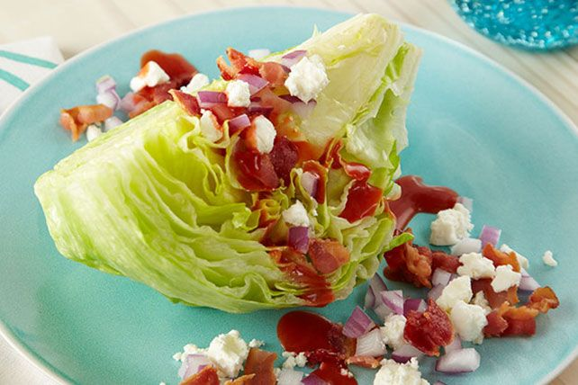 We dare you to find a salad simpler than this. Just quarter a head of lettuce, put a wedge on a plate, top with dressing and voilà—a crowd-pleasing salad.