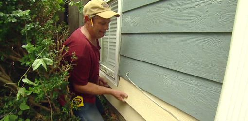 Watch this video to see how to go about replacing water damaged hardboard or wood siding with more durable fiber cement siding.