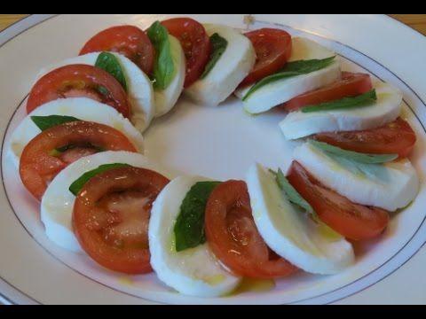 Замечательный итальянский салат Капрезе (Caprese). Попробуйте приготовить!