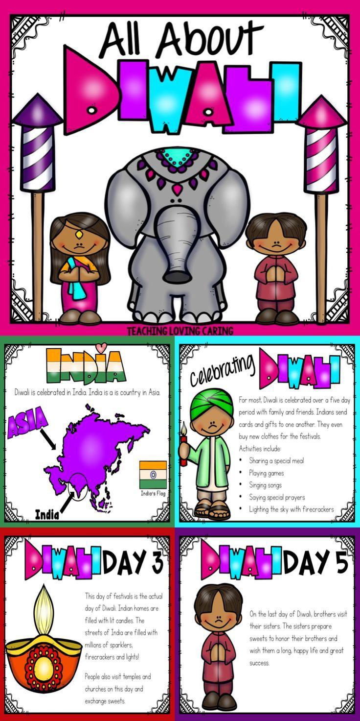 Use this kid-friendly presentation to teach your class about Diwali, the   Festival of Lights. This detailed lesson tells about the ancient Hindu   legend of why Diwali is celebrated, as well as a breakdown of what each   day of Diwali might look like for those who celebrate.