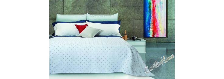 Copriletto in cotone Katia #letto #carillohome #home www.carillohome.com #lenzuola #copriletto #lenzuolamatrimoniale