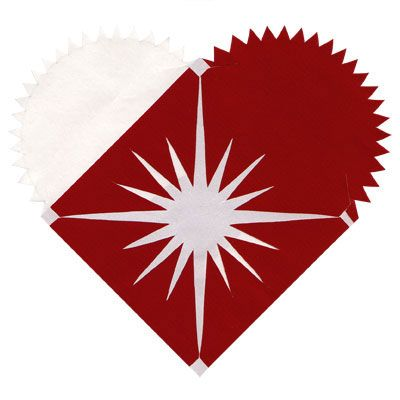 Beautiful variation on the traditional Danish paper Christmas ornament. Click for patterns for this and other beautiful variations.