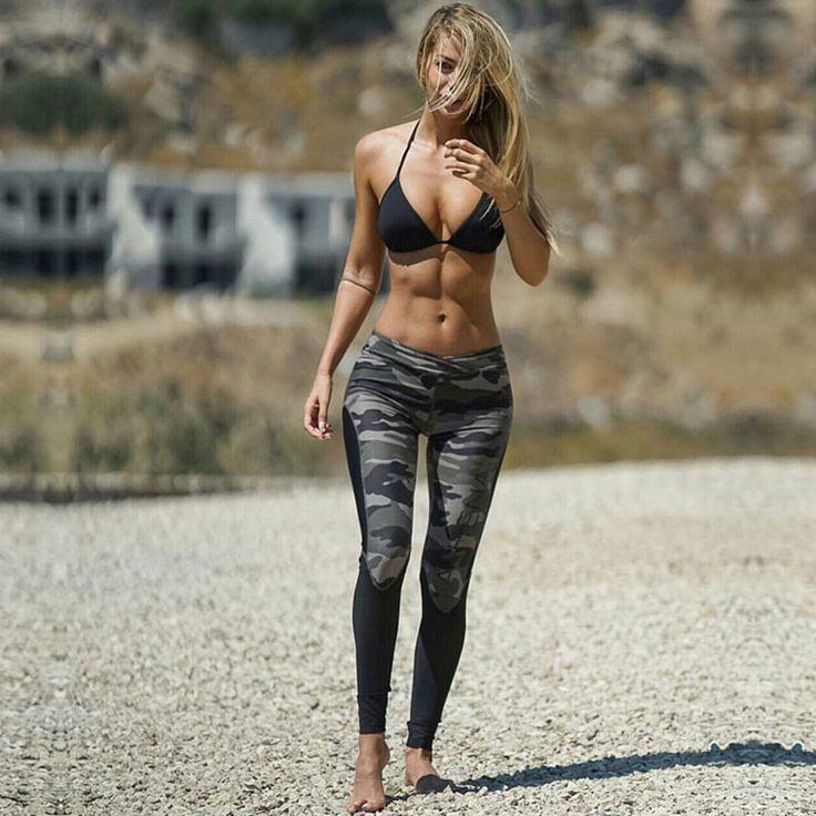 Camouflage Leggings High Elastic Women Fitness Skinny Pants Sports Clothing Ladies Push-up Workout Leggings #Affiliate