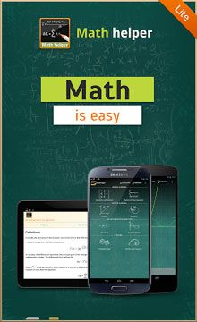 Math Helper Lite – Algebra