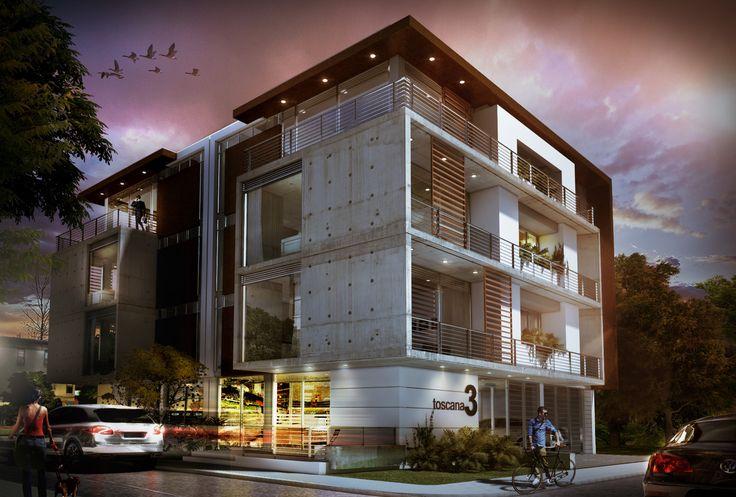 Design by: Architect. Federigo Gonzalez L. project: Multifamiliar  personal project 3dstudiomax 2014 + vray 2.40 + PS Colombia