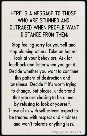 Stop feeling sorry for yourselves and stop blaming others...couldn't have said it better!!!!!!!!