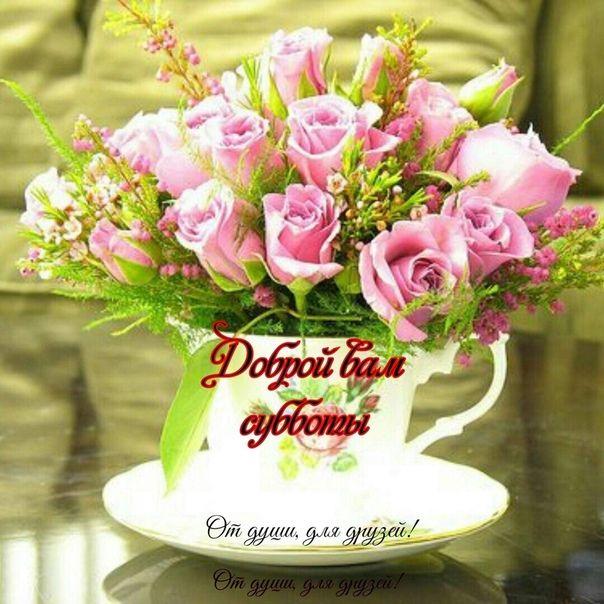 с добрым утром открытки с живыми цветами