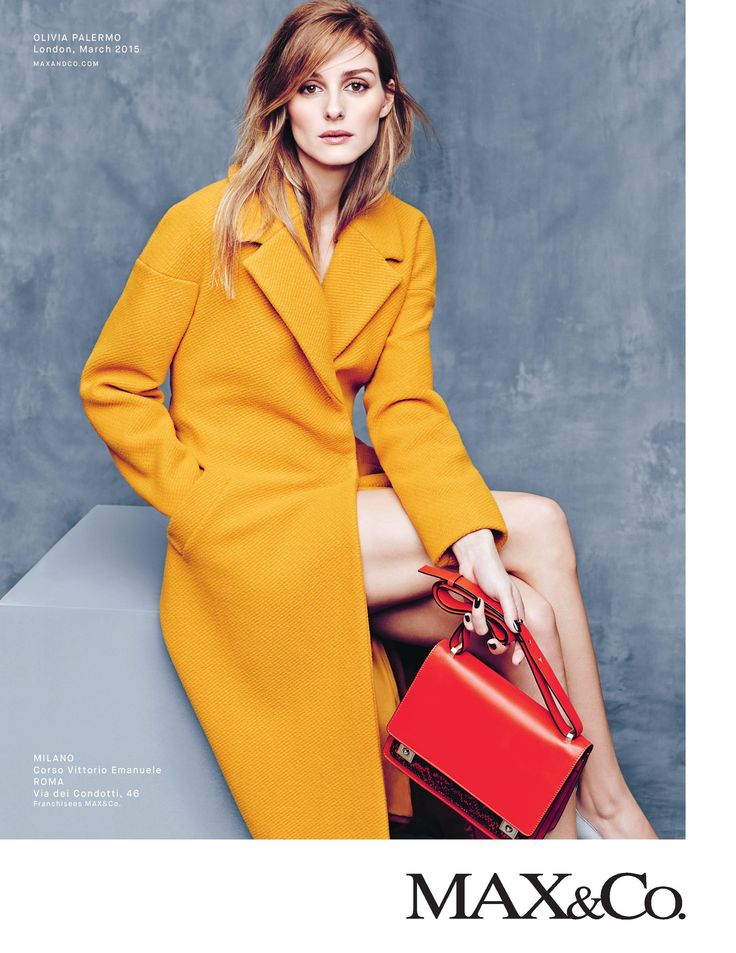 MAX&Co. A/W 2015 Campaign featuring Olivia Palermo wearing the CARTA textured wool coat. Ph. Erik Torstensson, styling Tom van Dorpe.