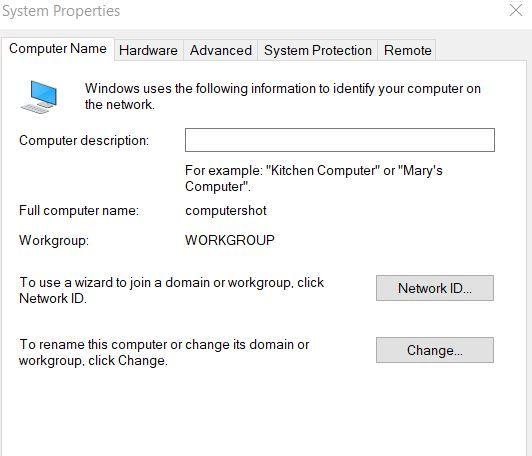 كيفية تغيير اسم جهاز الكمبيوتر في ويندوز 10 8 7 Names Networking Protection