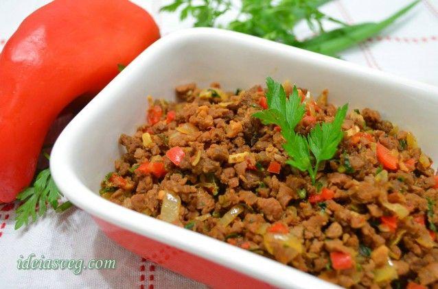 Carne moída de soja (PVT ou PTS)