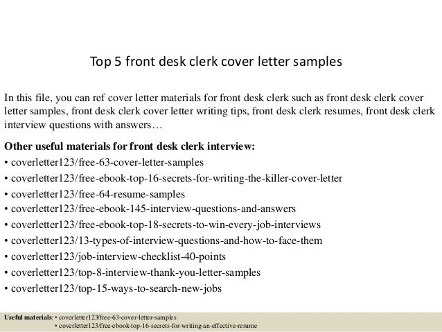 desk clerk cover letter samplesin this file you can ref attorney position templates