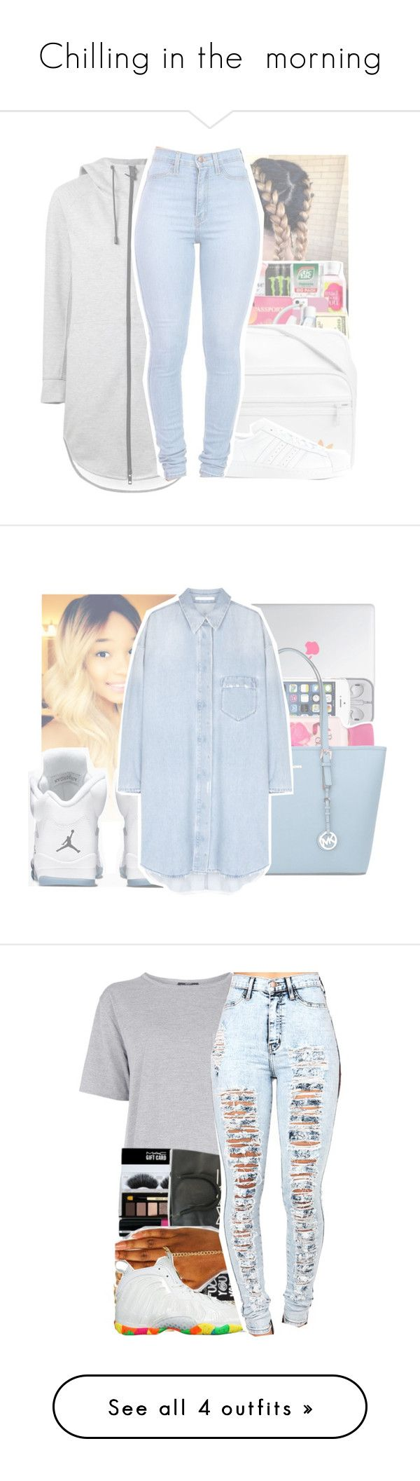 """""""Chilling in the  morning"""" by queen-dope ❤ liked on Polyvore featuring THE RERACS, adidas, women's clothing, women's fashion, women, female, woman, misses, juniors and MICHAEL Michael Kors"""