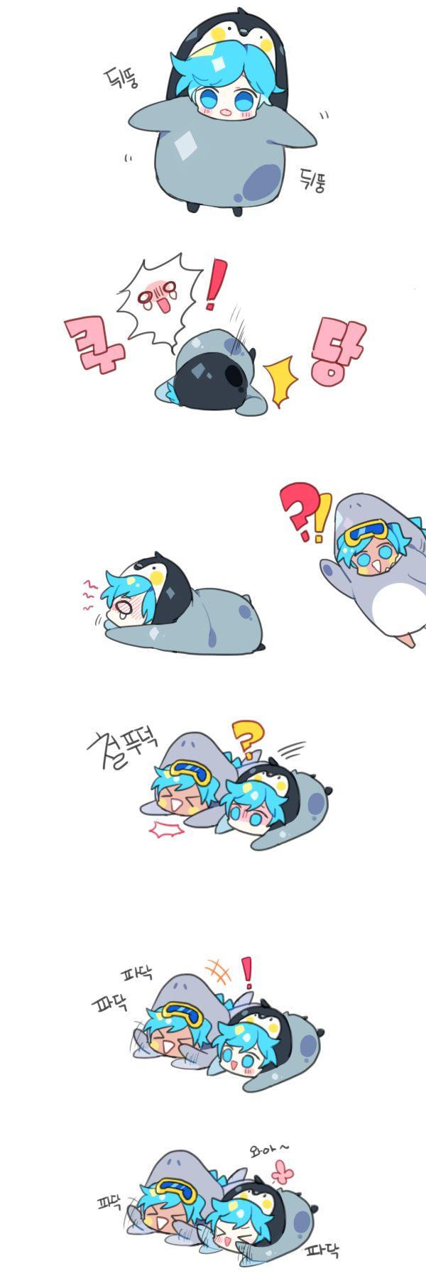 소다맛이랑 박하사탕맛 할로윈 코스튬 넘 귀여워서 뻘만화ㅠ.ㅠ)9