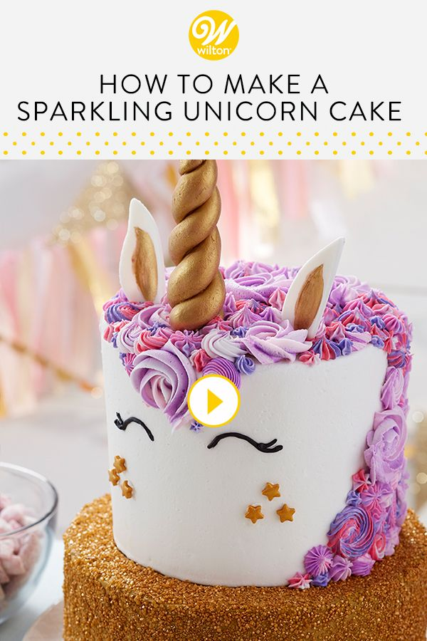Watch And Learn How To Make A Magical Tiered Unicorn Cake This