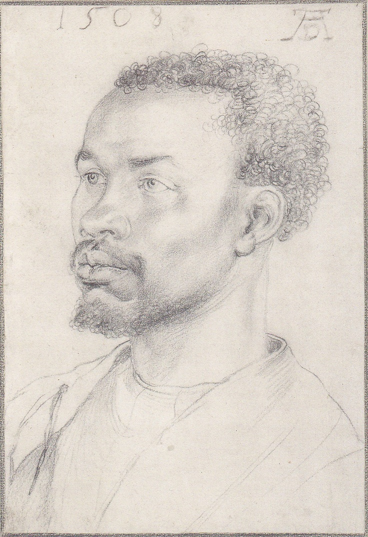 17 best images about medieval people of color durer portrait study of a black man 1508 albertina vienna