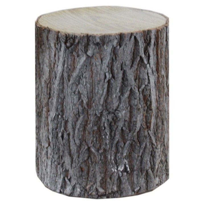 Decoratie boomstam middel. Een decoratieve boomstam die buiten naar binnen brengt. #intratuin