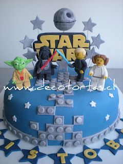Lego Star Wars...everything Vance Thomas loves rolled into one birthday cake...perfect