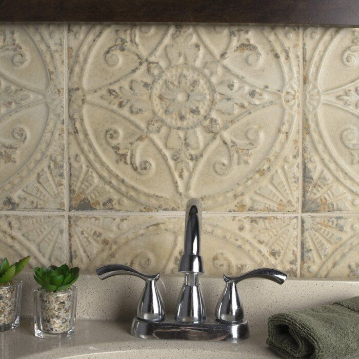 Castile 13 X 13 Ceramic Field Tile In 2020 Outdoor Kitchen