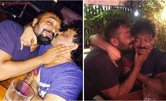 Ram Gopal Varma is kissing Anurag Kashyap 'for his sexy mind'. What's happening between them? See photos