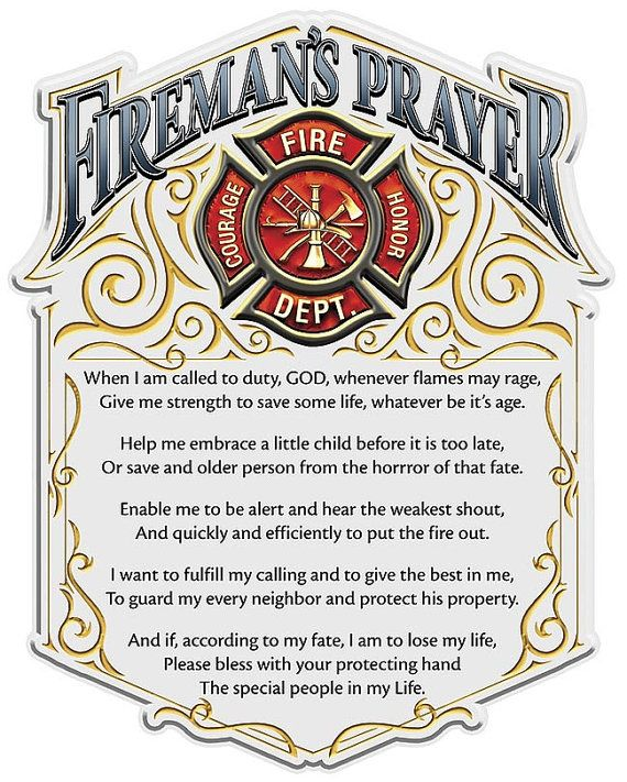 Fireman's Prayer 4 Inch Decal SKU FF2011D4 by RescueTees on Etsy, $6.00