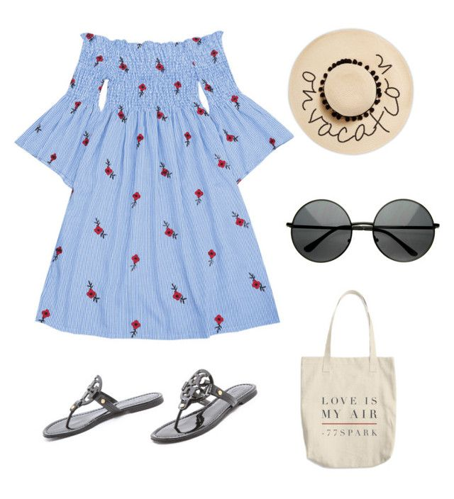 """""""Vacation time"""" by anielle-fashion on Polyvore featuring Tory Burch and August Hat"""