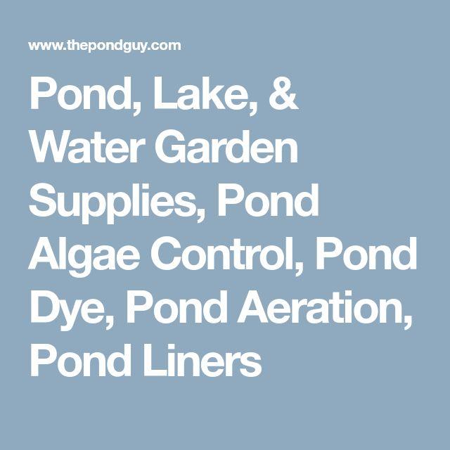 Pond, Lake, & Water Garden Supplies, Pond Algae Control, Pond Dye, Pond Aeration, Pond Liners