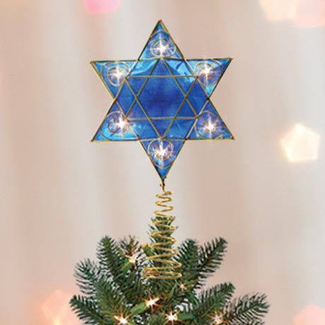 As Seen on Shark Tank: Hanukkah Tree Topper. Now how bout that?! Want!
