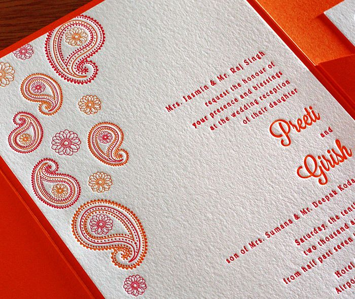 paisley letterpress wedding invitation by invitations by ajalon