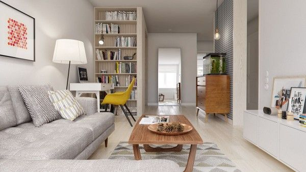 Stylish Interior Design — A Midcentury Inspired Apartment with Scandinavian...