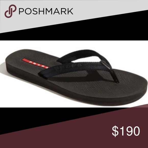 Men's Prada flip flops The most comfortable, simple, amazing deal, and beautiful flip flops for men. Brand new shoe. Prada Shoes Sandals & Flip-Flops