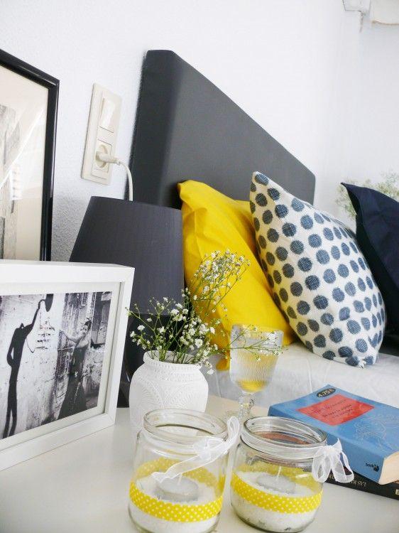 Dormitorio low cost: decoración por menos de 100€  Tarros con wasi tape
