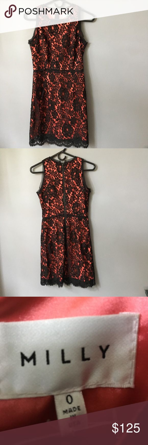 MILLY black and orange lace dress MILLY black and orange lace dress Milly Dresses