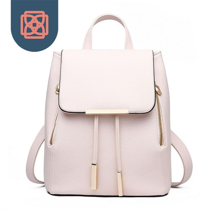 Women Daily Backpacks Daypack Girl  School Bag PU Leather Bags Candy Color Travel  bag >>> You can get more details by clicking on the image.