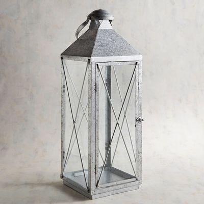galvanized metal house lantern - 400×400