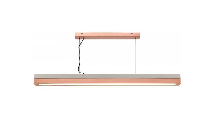 Phoenix+15w+LED+Pendant+Light+Concrete+Look+Metal/Brushed+Copper+Mercator+ML7031, $369.00