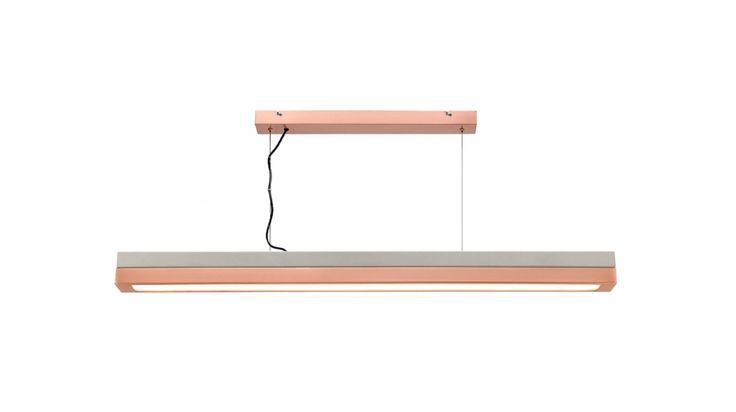 Phoenix+15w+LED+Pendant+Light+Concrete+Look+Metal/Brushed+Copper+Mercator+ML7031, $369.00