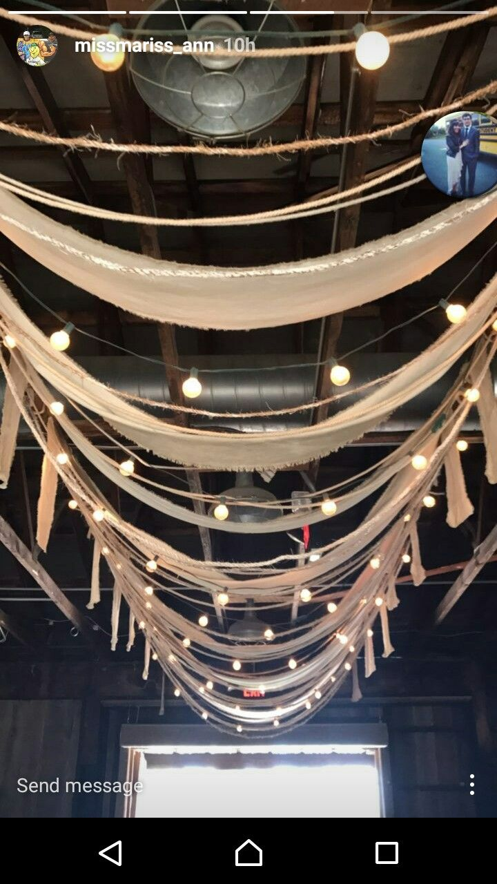 a whimsical way to cover a bland ceiling