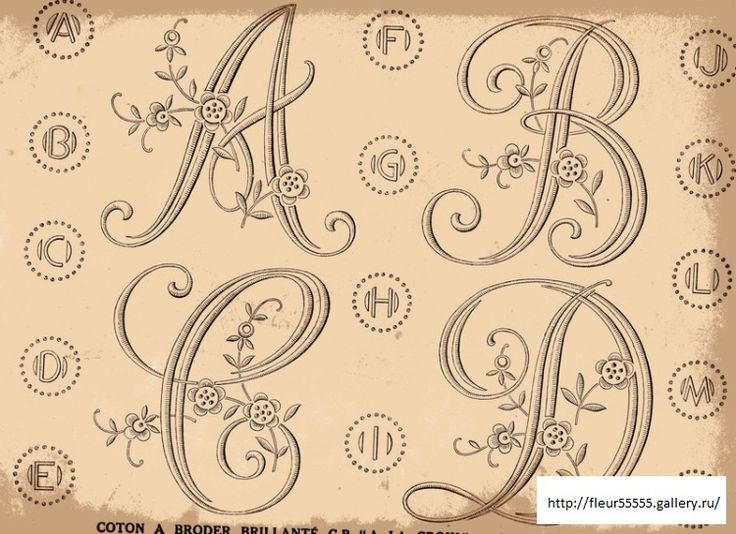 Gallery.ru / Фото #1 - 33 - Fleur55555..VINTAGE ALPHABET PATTERNS IN TWO SIZES!!