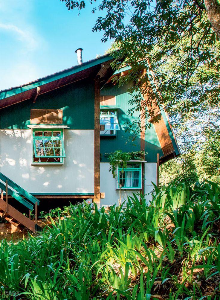Chalé pré-fabricado cercado dos encantos da natureza - Casa