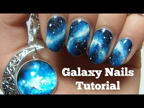 Galaxy nails (sans éponge // No sponge) - Facile // Easy (english sub) - YouTube